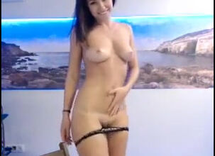 Teen dancing naked